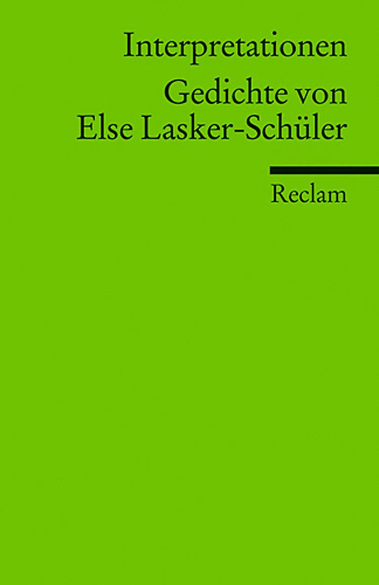 Gedichte Von Else Lasker Schüler Buch Versandkostenfrei Bei
