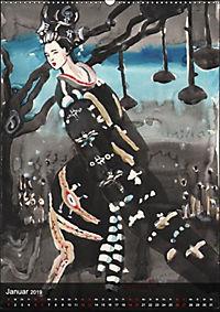 Geisha Asia Japan Pin-up Kalender (Wandkalender 2019 DIN A2 hoch) - Produktdetailbild 1