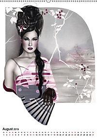 Geisha Asia Japan Pin-up Kalender (Wandkalender 2019 DIN A2 hoch) - Produktdetailbild 8