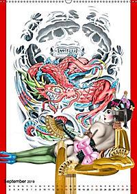 Geisha Asia Japan Pin-up Kalender (Wandkalender 2019 DIN A2 hoch) - Produktdetailbild 9