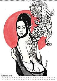 Geisha Asia Japan Pin-up Kalender (Wandkalender 2019 DIN A2 hoch) - Produktdetailbild 10