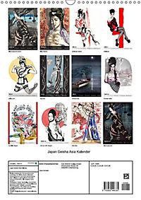 Geisha Asia Japan Pin-up Kalender (Wandkalender 2019 DIN A3 hoch) - Produktdetailbild 13