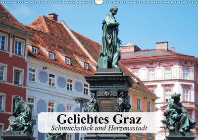 Geliebtes Graz. Schmuckstück und Herzensstadt (Wandkalender 2019 DIN A3 quer), Elisabeth Stanzer