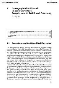Generationen in Familie und Gesellschaft im demographischen Wandel - Produktdetailbild 1