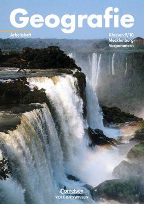 Geografie, Ausgabe Mecklenburg-Vorpommern: Arbeitsheft Klassen 9/10