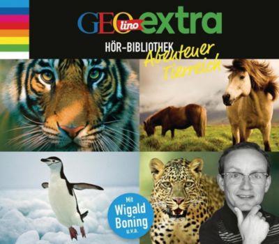 GEOlino extra Hör-Bibliothek - Abenteuer Tierreich, 4 Audio-CDs, Martin Nusch