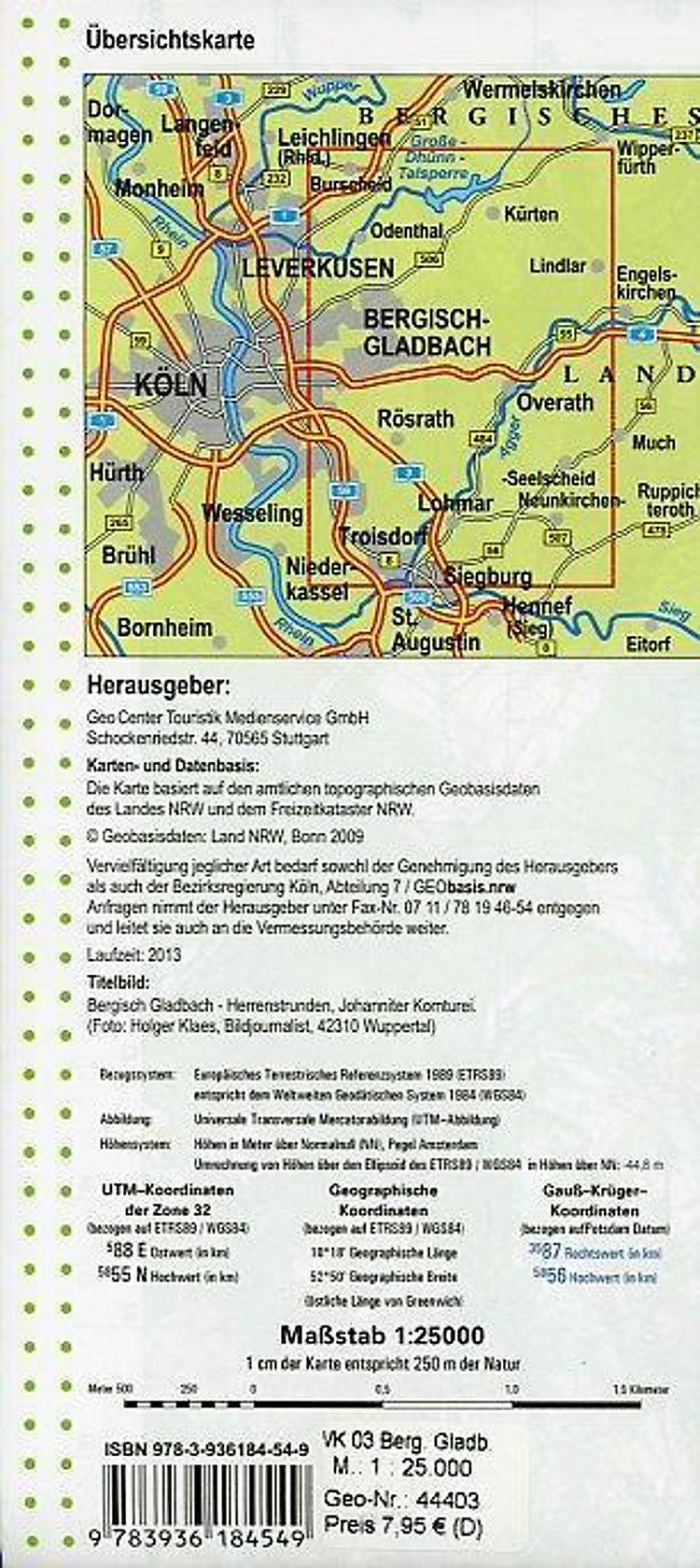Geomap Karte Bergisch Gladbach Buch Versandkostenfrei Bei Weltbild De