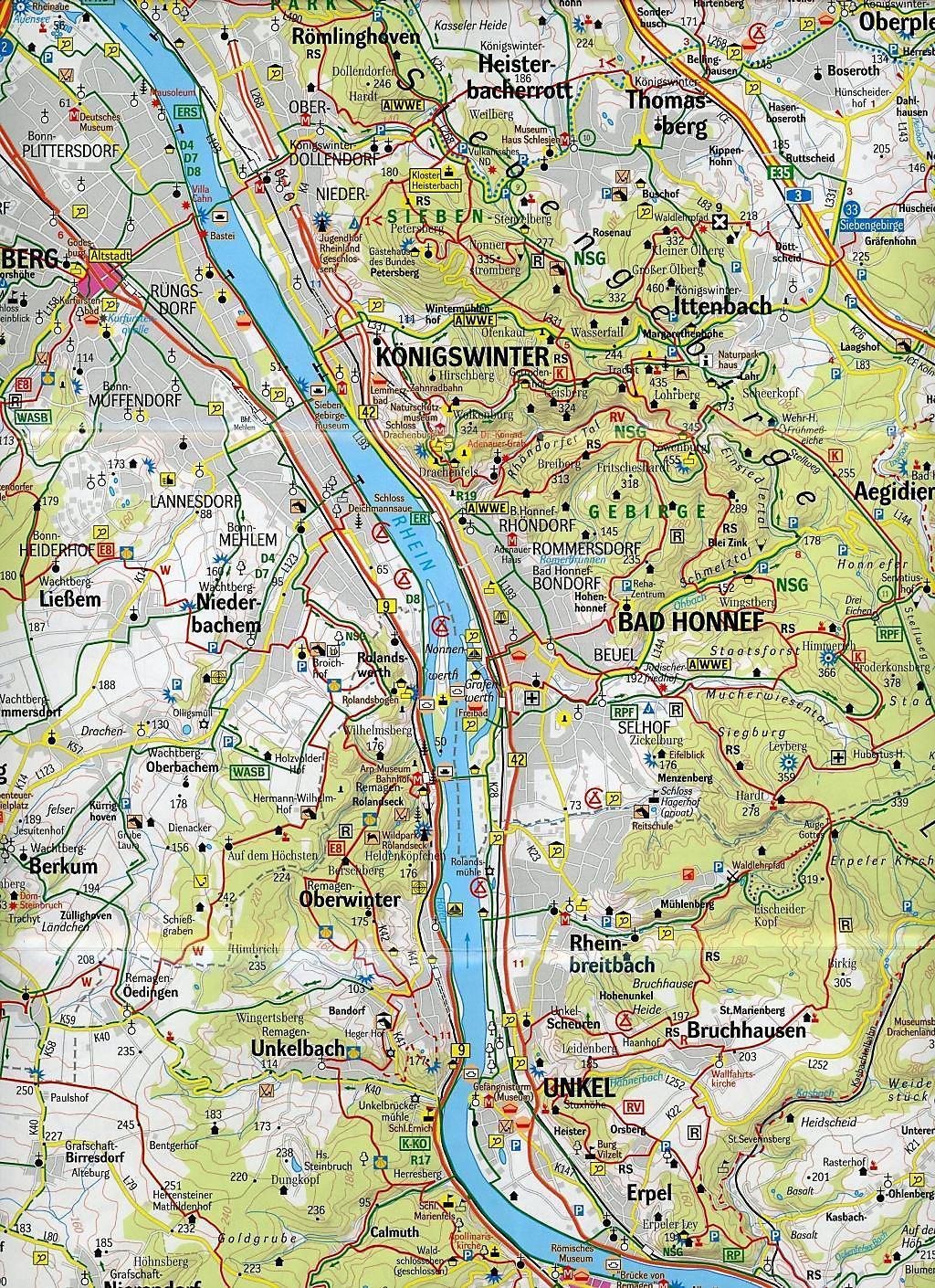 Bonn Karte.Geomap Karte Freizeitregion Köln Bonn Und Umgebung Buch Kaufen