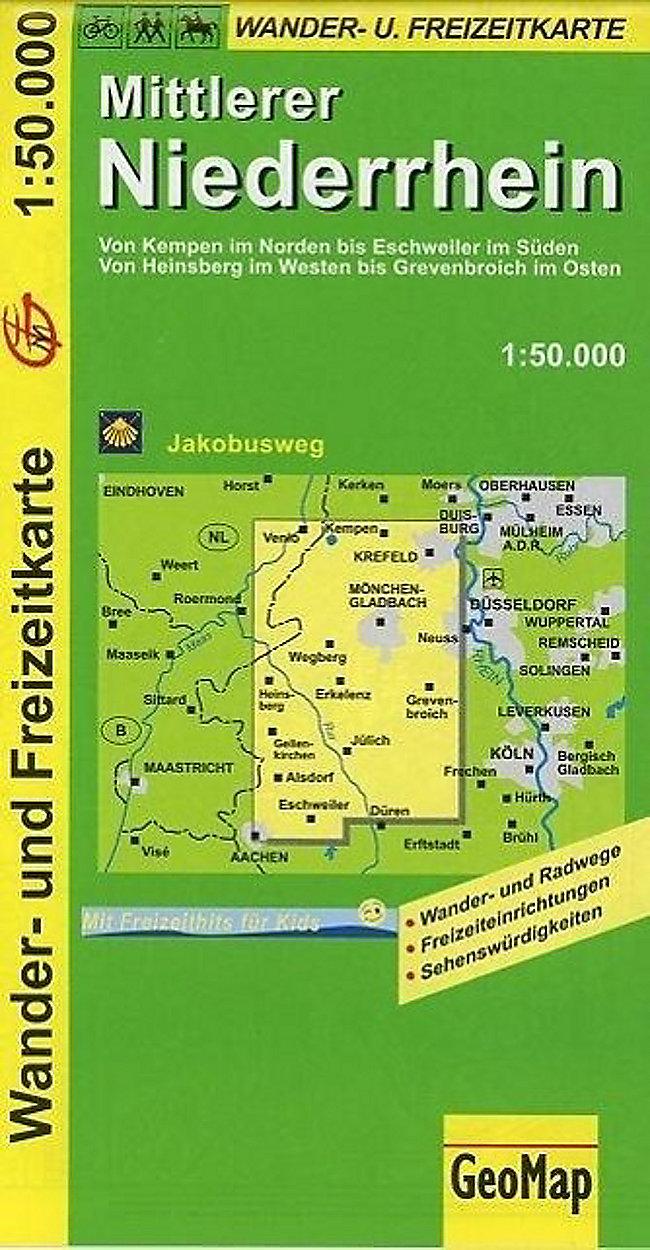 Karte Niederrhein.Geomap Karte Mittlerer Niederrhein Buch Bei Weltbild Ch Bestellen