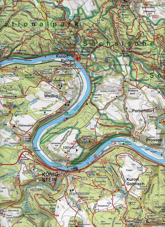 böhmische schweiz karte GeoMap Karte Nationalpark Sächsische Schweiz, Böhmische Schweiz Buch