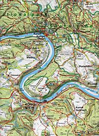 GeoMap Karte Nationalpark Sächsische Schweiz, Böhmische Schweiz - Produktdetailbild 1