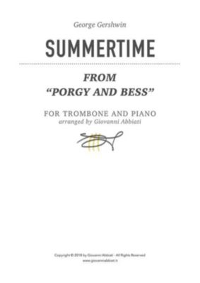 "George Gershwin Summertime (from ""Porgy and Bess"") for trombone and piano, Giovanni Abbiati"