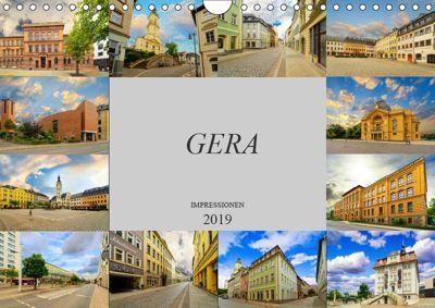 Gera Impressionen (Wandkalender 2019 DIN A4 quer), Dirk Meutzner