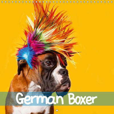 German Boxer (Wall Calendar 2019 300 × 300 mm Square), Kerstin Mielke