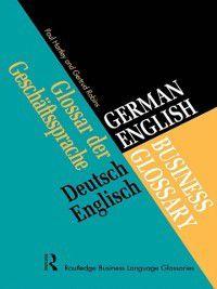 German/English Business Glossary, Paul Hartley, Gertrud Robins