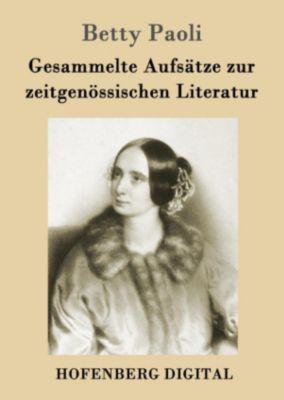 Gesammelte Aufsätze zur zeitgenössischen Literatur, Betty Paoli