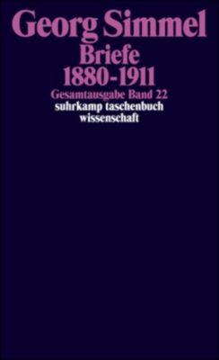 Gesamtausgabe: Bd.22 Briefe 1880-1911, Georg Simmel