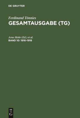 Gesamtausgabe (TG) 1916-1918