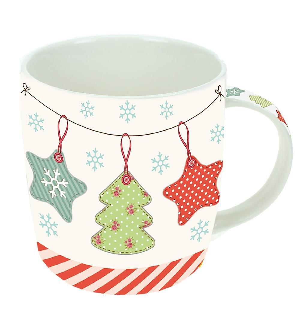 Porzellan Weihnachten.Geschenk Tasse Aus Porzellan Vintage Weihnachten In