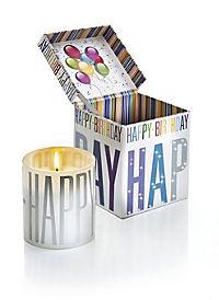 """Geschenkkerze """"Happy Birthday"""" mit Musik - Produktdetailbild 1"""