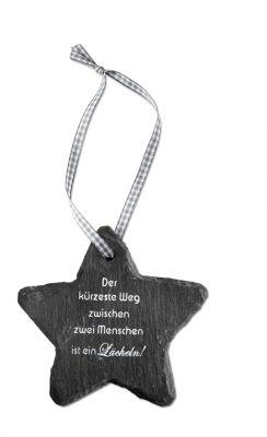 Geschenkset Stern aus Schiefer