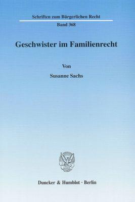 Geschwister im Familienrecht, Susanne Sachs