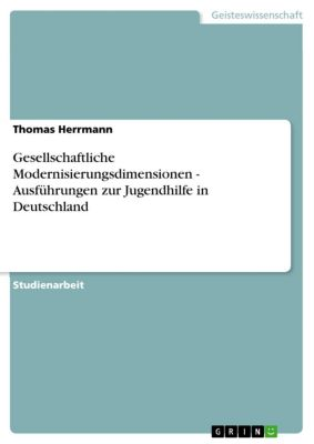 Gesellschaftliche Modernisierungsdimensionen - Ausführungen zur Jugendhilfe in Deutschland, Thomas Herrmann