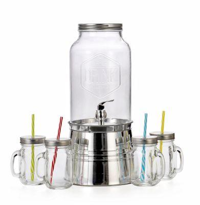 Getränkespender inkl. 4 Gläsern