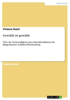 Gewählt ist gewählt, Vinzenz Huzel