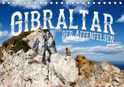 Gibraltar - der Affenfelsen (Tischkalender 2019 DIN A5 quer), Carina Buchspies