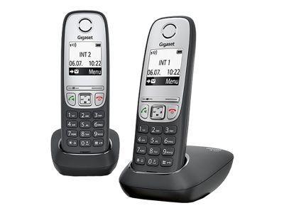 GIGASET A415 Duo schwarz Freisprech Funktion 100 Adresseinträge + zusaetzlichem Mobilteil