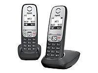 GIGASET A415 Duo schwarz Freisprech Funktion 100 Adresseinträge + zusaetzlichem Mobilteil - Produktdetailbild 1