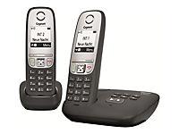 GIGASET A415A Duo schwarz mit Anrufbeantworter Freisprechfunktion 100 Adresseinträge + zusätzlichem Mobilteil - Produktdetailbild 6