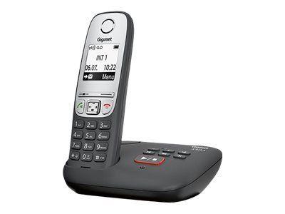 GIGASET A415A schwarz mit Anrufbeantworter Freisprech Funktion 100 Adresseinträge