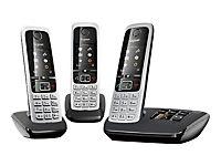 GIGASET C430A Trio schwarz + 2 zus. Mobilteile, 200 Adressbucheinträge TFT-Farb-Display Wecker Kalender - Produktdetailbild 2
