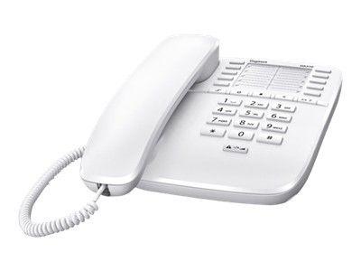 GIGASET DA510 weiss schnurgeb. analog 10 Kurzwahleinträge (für 20 Nummern) Tastensperre Direktruf Anrufsperre Wandmontagefähig