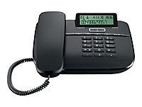 GIGASET DA610 schwarz schnurgebunden analog mit Display Freisprechfunktion CLIP Telefonbuch für bis zu 50 Einträge - Produktdetailbild 1