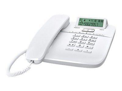 GIGASET DA610 weiss schnurgebunden analog mit Display Freisprechfunktion CLIP Telefonbuch für bis zu 50 Einträge