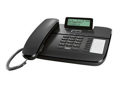 GIGASET DA710 schwarz schnurgeb. analog klappbares Grafik-Display Freisprechen CLIP Telefonbuch für 100 Einträge 8 Direktwahltasten