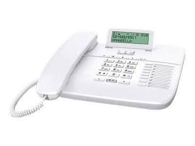 GIGASET DA710 weiss schnurgeb. analog klappbares Grafik-Display Freisprechen CLIP Telefonbuch für 100 Einträge 8 Direktwahltasten