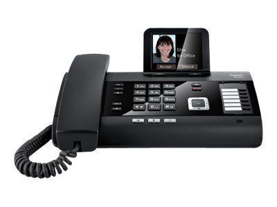 GIGASET DL500A schwarz + C430HX schwarz Komfort-Tischtelefon inkl. zusätzlichem Mobilteil mit AB TFT-Farbdisplay