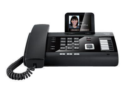 GIGASET DL500A schwarz schnurgeb. analog mit AB Bluetooth TFT-Farbdisplay Addressbuch für 500 vCard Einträge CTI Unterstützung