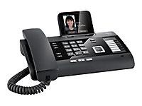 GIGASET DL500A schwarz schnurgeb. analog mit AB Bluetooth TFT-Farbdisplay Addressbuch für 500 vCard Einträge CTI Unterstützung - Produktdetailbild 1