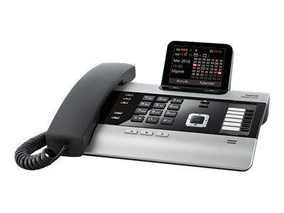 GIGASET DX600A ISDN titanium Farbdisplay Bluetooth 10 ISDN-Nummern verwaltbar Adressbuch fuer 750 Eintraege 3 Anrufbeantworter