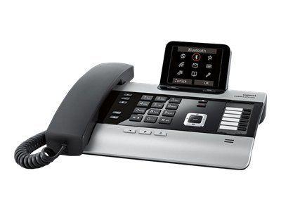 GIGASET DX800A titanium mit 3 AB s 3,5'' TFT Farbdisplay VoIP mit bis zu 6 SIP-Accounts ISDN mit bis zu 10 MSN od. Festnetz analog