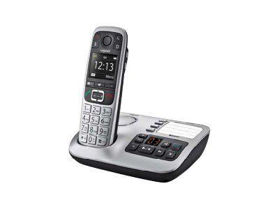 GIGASET E560A platin schnurlos analog Grosstaste mit AB Notruftaste Extra-Laut-Taste 4 Zielwahltasten Optische Anrufsignalisierung