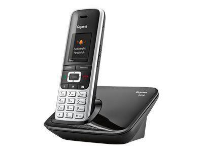 GIGASET S850 platin/schwarz schnurlos analog Bluetooth Adressbuch für 500 Einträge Micro-USB Picture-Clip Reichweitenwarnton