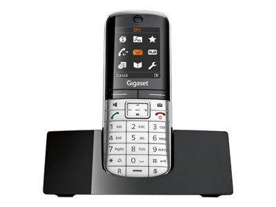 GIGASET SL350H metall/pianoschwarz Mobilteil incl. Ladeschale mini-USB Echtmetall-Rahmen Metall-Tastatur TFT Farbdisplay