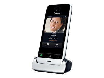 GIGASET SL910H metall/pianoschwarz zus. Mobilteil 3,2 kapazitives Full-Touch-Display Bluetooth Mini-USB Echtmetall-Rahmen
