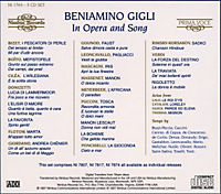 Gigli In Opera And Song - Produktdetailbild 1